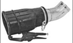 Резиновая насадка с отверстием для анализатора и фиксирующим зажимом